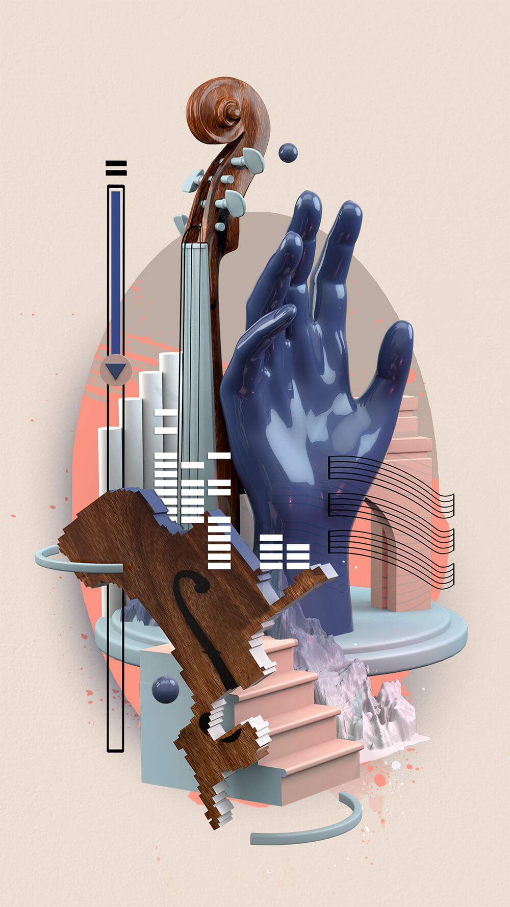 Illustration Digital Music Violin