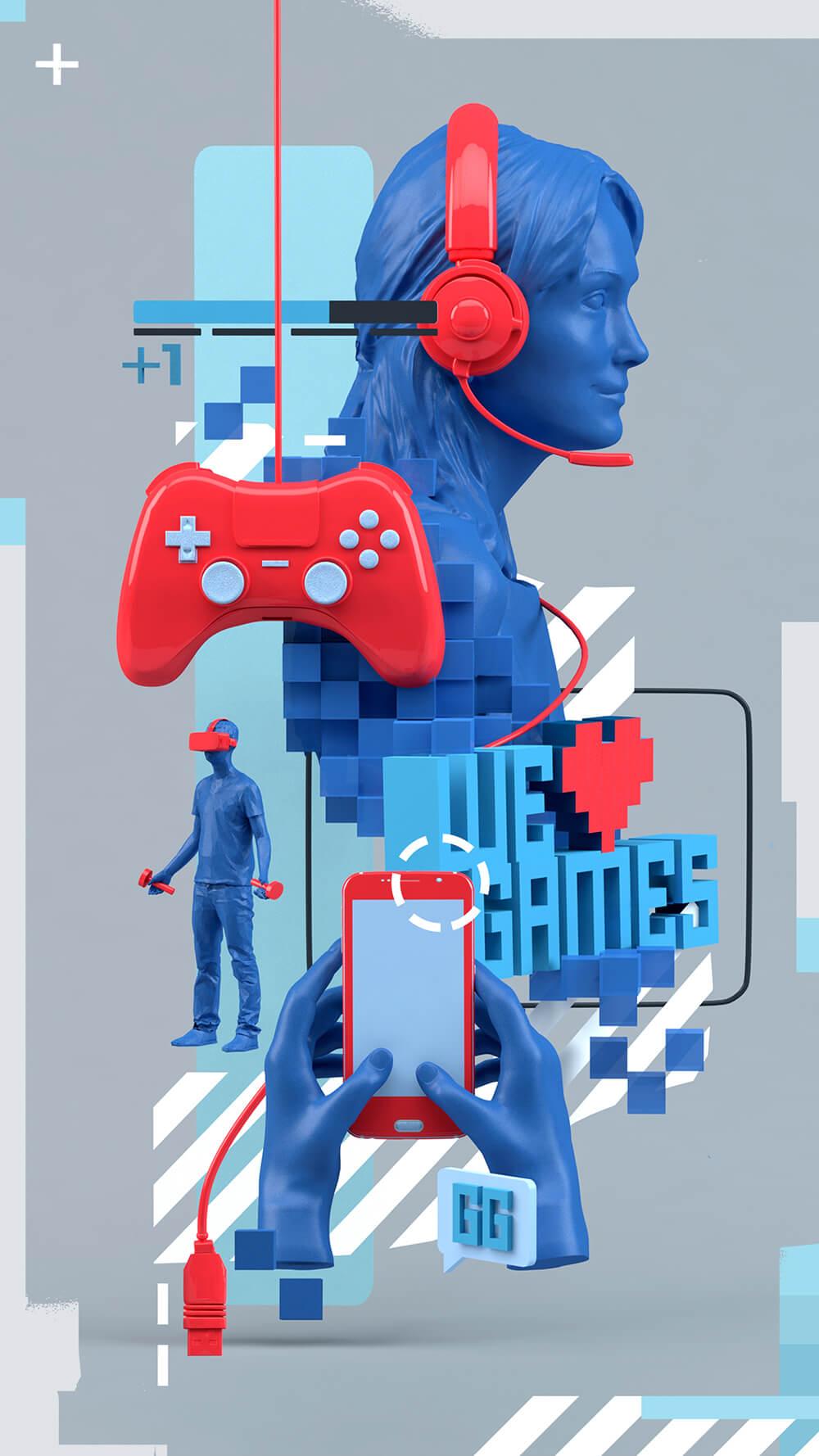 3D Games Illustration